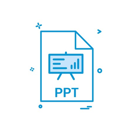 ppt file file extension file format icon vector design