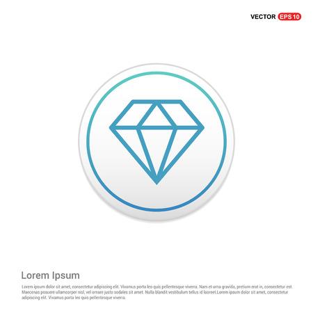 Diamond icon - white circle button