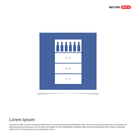 Bottles on bar counter icon - Blue photo Frame