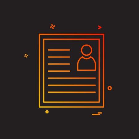 CV icon design vector