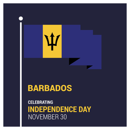 Vecteur de conception de carte de fête de l'indépendance de la Barbade