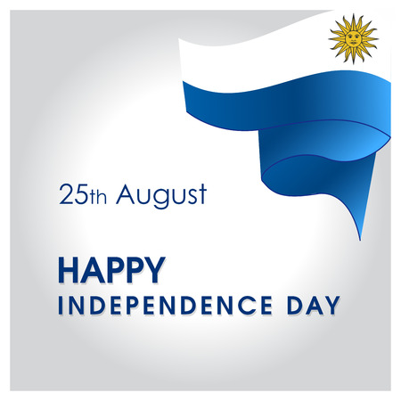 Uruguay Independence day design card vector