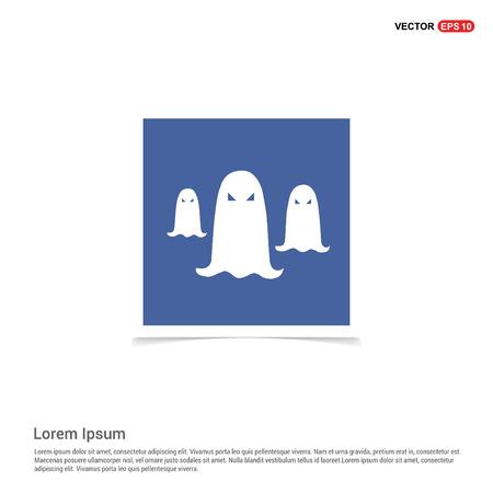 Ghost icon - Blue photo Frame 일러스트