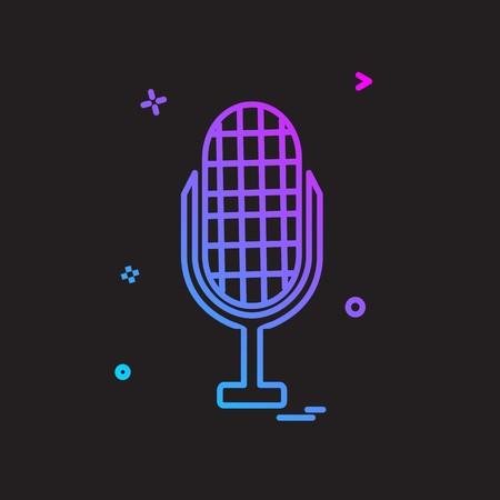 Mic icon design vector Ilustração