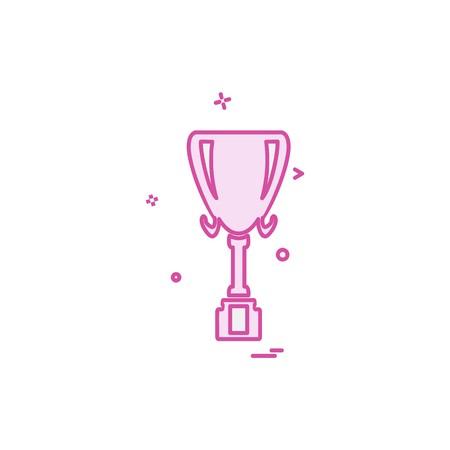 Trophy icon design vector