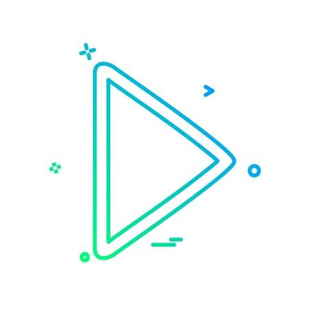 Play button icon design vector