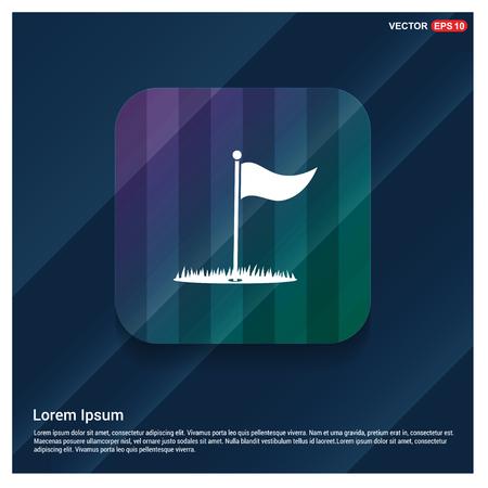 Golf Flag Icon - Free vector icon Фото со стока - 112097504
