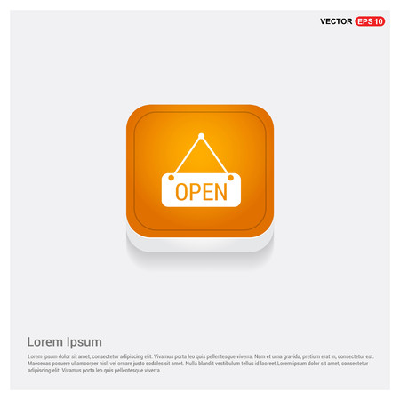 Open Icon Orange Abstract Web Button - Free vector icon  イラスト・ベクター素材
