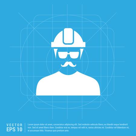 Engineer user Icon Vecteurs