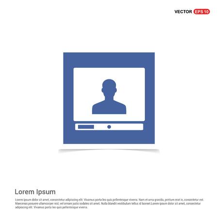 Computer Icon - Blue photo Frame