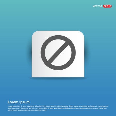 warning icon - Blue Sticker button