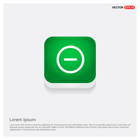minus iconGreen Web Button - Free vector icon