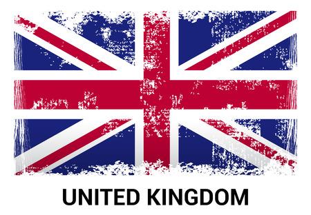 Vecteur de conception de drapeau du Royaume-Uni Vecteurs