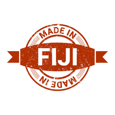 Fiji stamp design vector