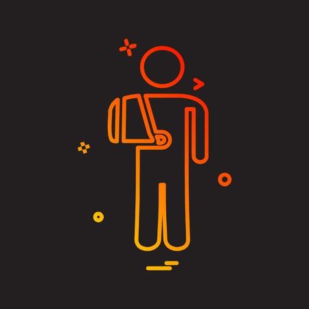 Patient icon design vector