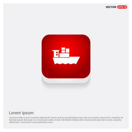 Sea ship Icon Illustration
