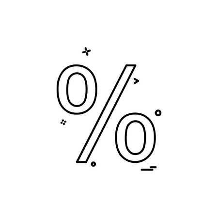 Percentage icon design vector 向量圖像