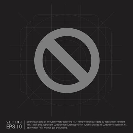 warning icon - Black Creative Background - Free vector icon Vettoriali