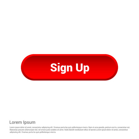Signup typographic with creative design vector
