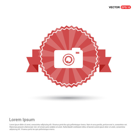 Photo camera icon - Red Ribbon banner