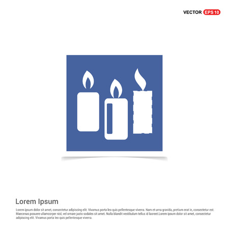 Candle Icon - Blue photo Frame