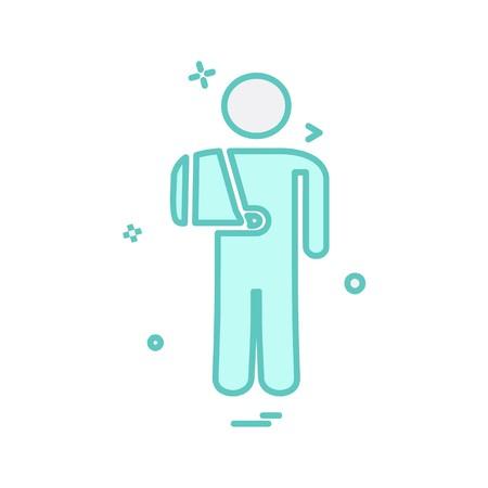 Patient icon design vector Vektoros illusztráció