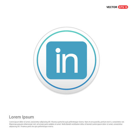 Linked in Icon - white circle button