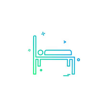 bed emergency hospital patient strature stretcher icon vector desige