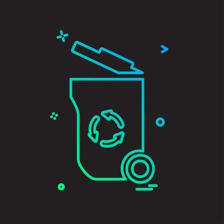 Trash icon design vector