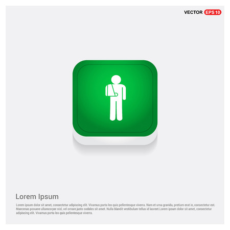 patient, iconGreen Web Button - Free vector icon