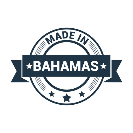Bahams stamp design vector