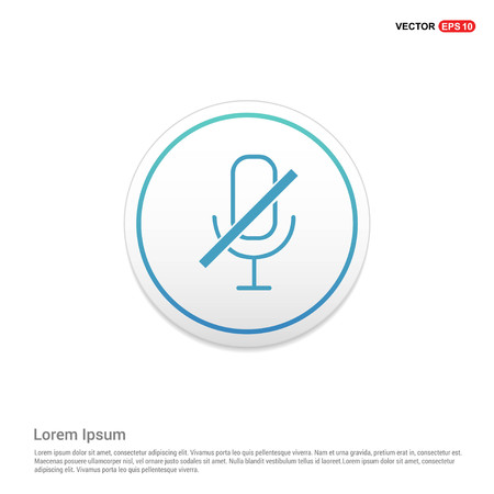 Mute microphone icon Hexa White Background icon template - Free vector icon