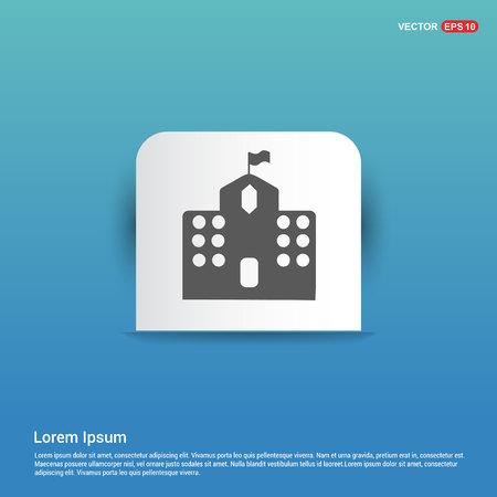 Castel Icon - Blue Sticker button 向量圖像