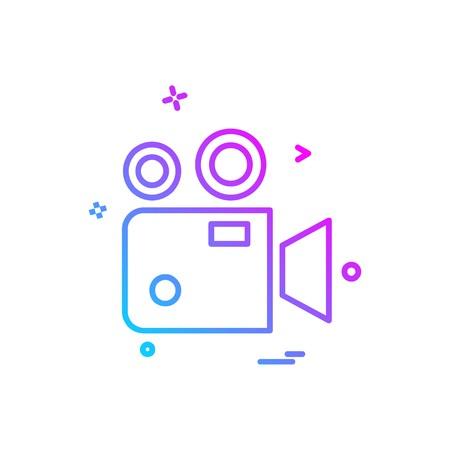Camcoder icon design vector