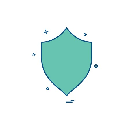 security badge saftey protect icon Illustration