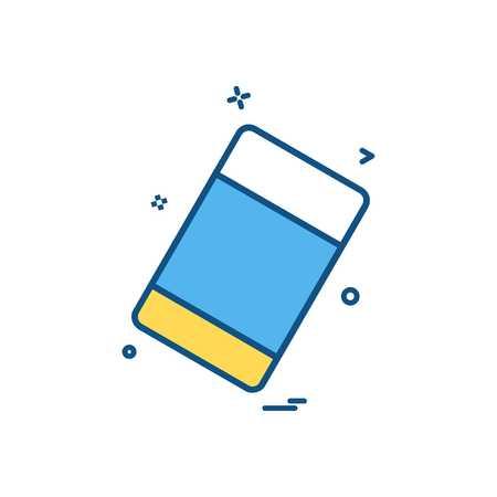 eraser school stationary icon vector design Vettoriali