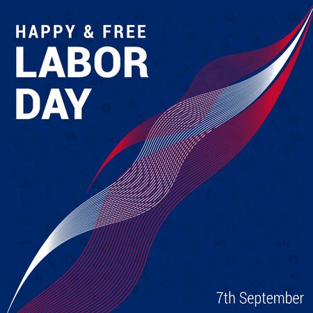 Celebrating Labour day design card vector