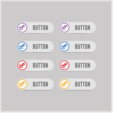 Snowflake flat icon - Free vector icon Ilustração