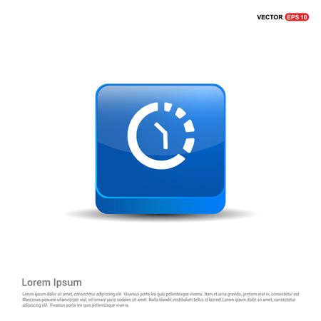 Repeat Time Icon - 3d Blue Button. Vector Illustratie