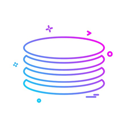 Database icon design vector