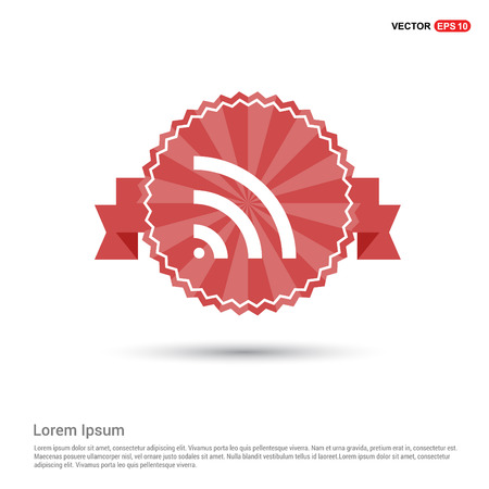 Wi-Fi Icon - Red Ribbon banner