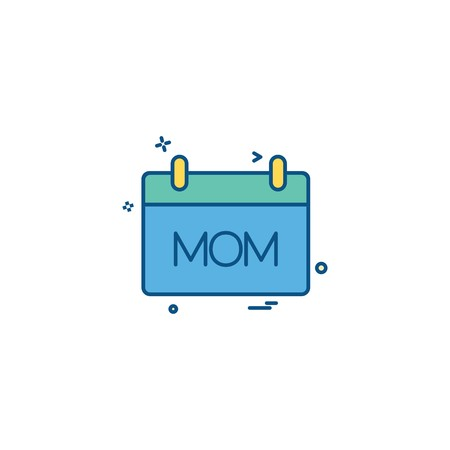 Mother's day calender icon design vector