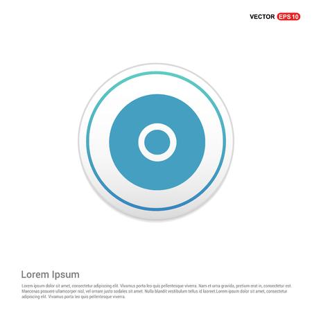 Cd disc icon - white circle button