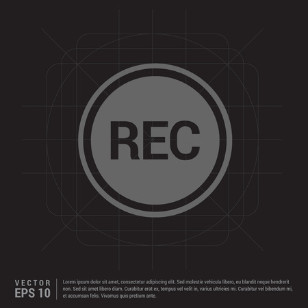Recording icon Vectores