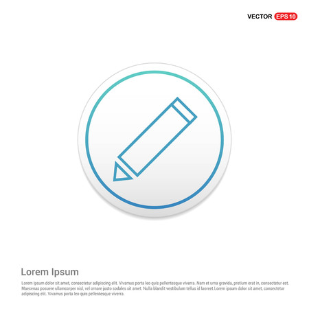 Edit, pencil icon Hexa White Background icon template - Free vector icon Illustration