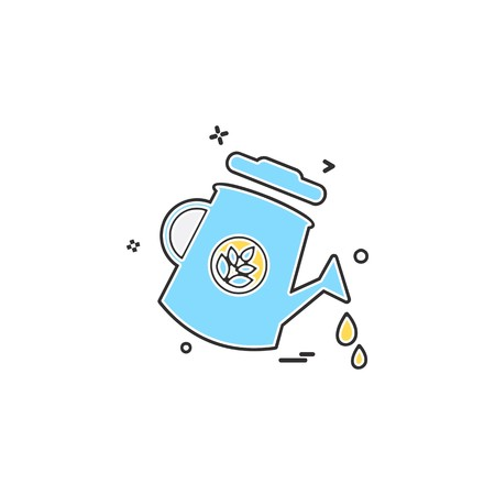 Water shower icon design vector  イラスト・ベクター素材