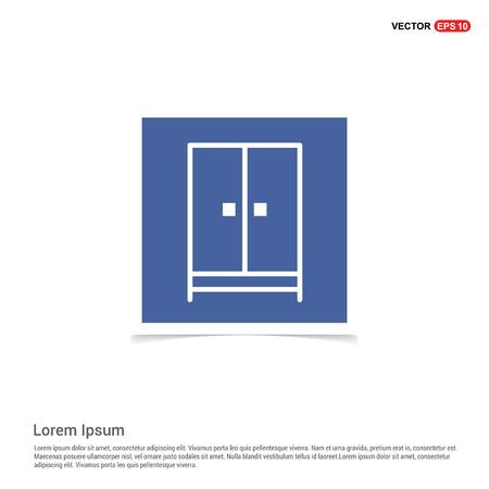 Cupboard wardrobe icon - Blue photo Frame Illusztráció