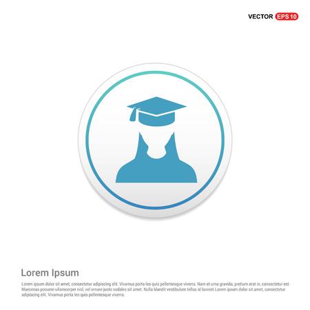 Education User Icon Hexa White Background icon template - Free vector icon Vector Illustratie