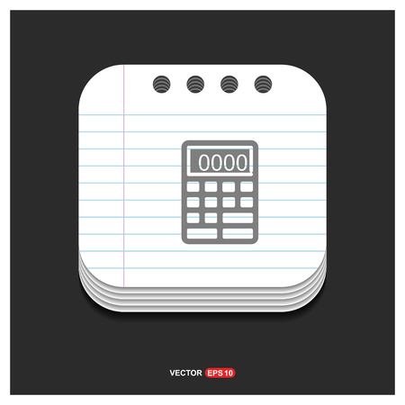Electronic calculator icon - Free vector icon