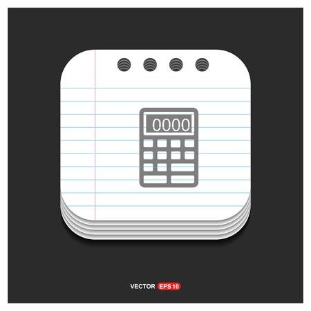 Electronic calculator icon - Free vector icon